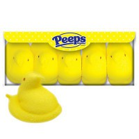 PEEPS 5 MARSHMALLOW YELLOW CHICKS