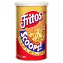FRITOS SCOOPS CORN CHIPS CANISTER