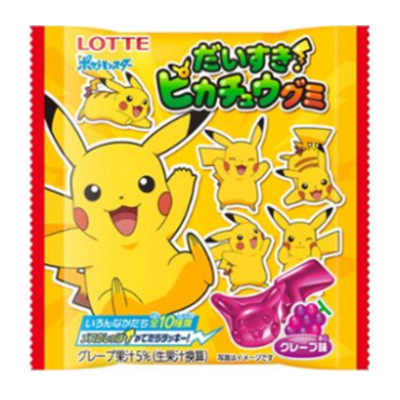 LOTTE LOVE PICACHU GUMMI GRAPE TASTE