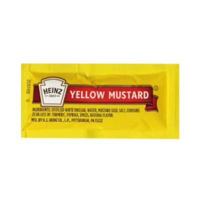 HEINZ YELLOW MUSTARD PORTION PACKET - 1000 PACKETS
