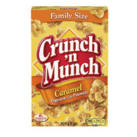 CRUNCH N MUNCH FAMILY SIZE CARAMEL POPCORN WITH PEANUTS
