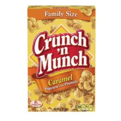 CLEARANCE - CRUNCH N MUNCH FAMILY SIZE CARAMEL POPCORN WITH PEANUTS