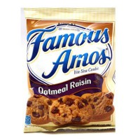FAMOUS AMOS BITE SIZE OATMEAL RAISIN COOKIES
