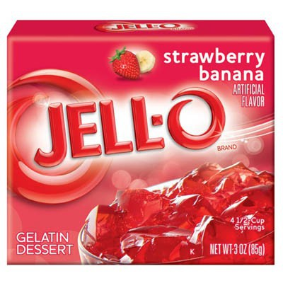 JELLO STRAWBERRY - BANANA