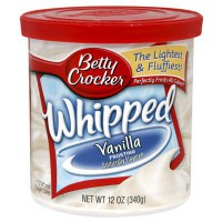 CLEARANCE - BETTY CROCKER FROSTING WHIPPED VANILLA