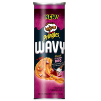 PRINGLES WAVY SWEET AND TANGY BBQ CHIPS
