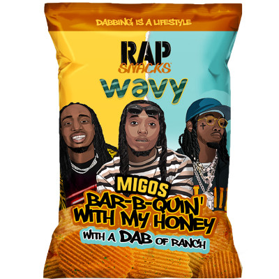 CLEARANCE - RAP SNACKS MIGOS BAR B QUIN WITH MY HONEY WITH A DAB OF RANCH