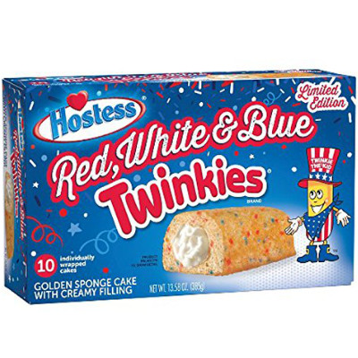 HOSTESS TWINKIES RED WHITE & BLUE LIMITED EDITION