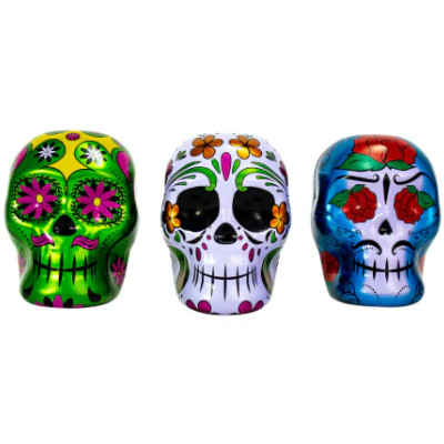 BEE DAY OF THE DEAD TINS WITH SMARTIES