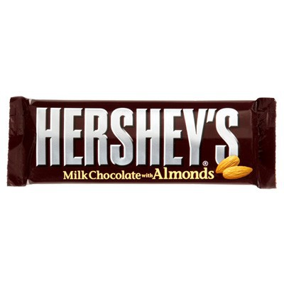 CLEARANCE - HERSHEY'S MILK CHOCOLATE BAR WITH ALMONDS