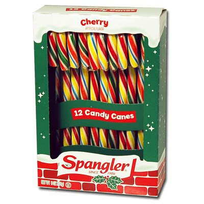 CANDY CANES CHERRY RAINBOW 12-stick box