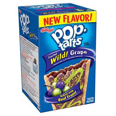 KELLOGG'S POP TARTS FROSTED WILD! GRAPE