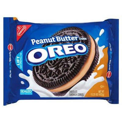 CLEARANCE - NABISCO OREO PEANUT BUTTER CREME SANDWICH COOKIES