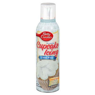 BETTY CROCKER SPRAY CUPCAKE ICING WHITE