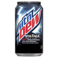 MOUNTAIN DEW VOLTAGE SODA À LA FRAMBOISE ET AUX AGRUMES