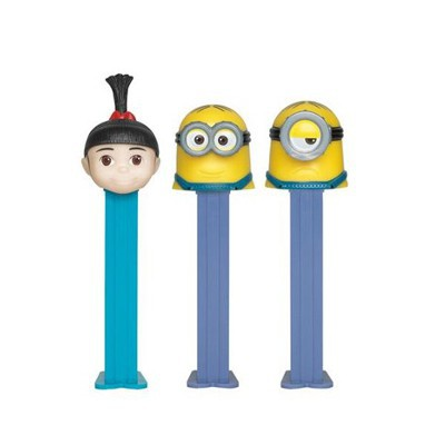 PEZ DISPENSER DESPICABLE ME MINIONS CHARACTER WITH CANDIES