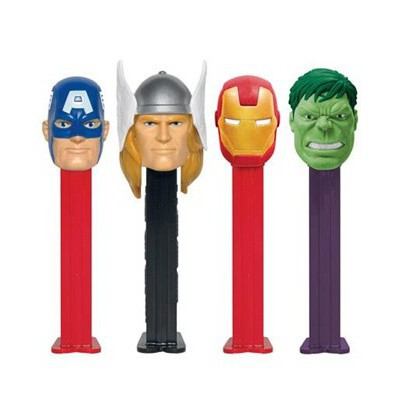 PEZ DISPENSER MARVEL CHARACTER WITH CANDIES
