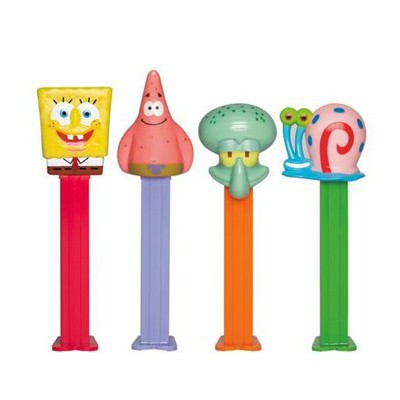 PEZ DISPENSER SPONGEBOB CHARACTER WITH CANDIES