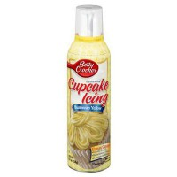BETTY CROCKER SPRAY CUPCAKE ICING YELLOW