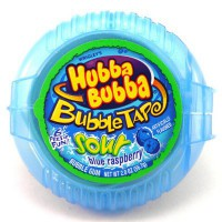 HUBBA BUBBA TAPE CHEWING GUMS FRAMBOISE BLEUE