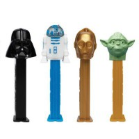 PEZ DISPENSER STAR WARS WITH CANDIES