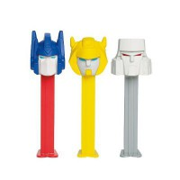 PEZ DISPENSER TRANSFORMERS WITH CANDIES