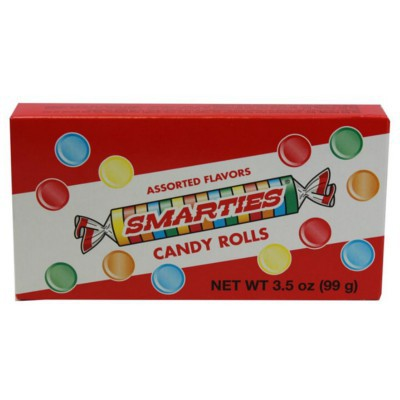 SMARTIES CANDY ROLLS BOX