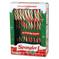 CLEARANCE - CANDY CANES PEPPERMINT RED GREEN WHITE 12-stick box
