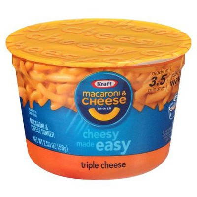 KRAFT MACARONI & CHEESE TRIPLE CHEESE CUP