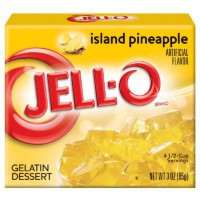 JELL-O ISLAND PINEAPPLE - GELATINA ALL'ANANAS