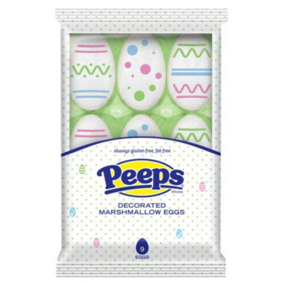 PEEPS 9 MARSHMALLOW DECORATED EGGS
