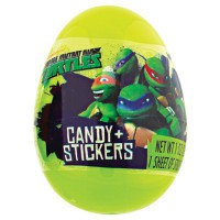 TEENAGE MUTANT NINJA TURTLES SURPRISE EGG WITH CANDY & STICKERS