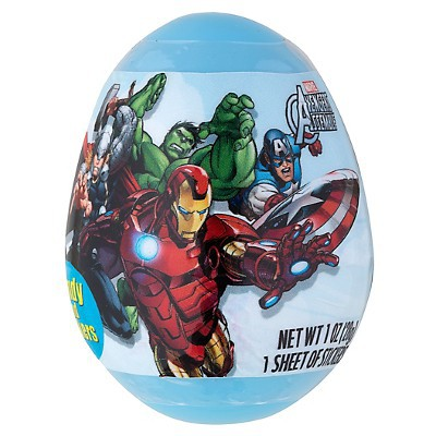 MARVEL AVENGERS SURPRISE EGG WITH CANDY & STICKERS