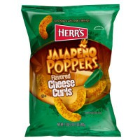 HERR'S JALAPENO POPPERS CHEESE CURLS CHIPS