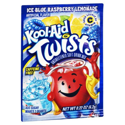 KOOL-AID ICE BLUE RASPBERRY LEMONADE UNSWEETENED SOFT DRINK MIX