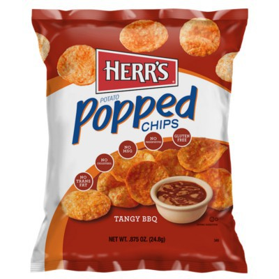 HERR'S TANGY BBQ POPPED POTATO CHIPS