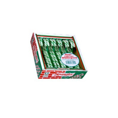 CANDY CANES WINTERGREEN 12-stick box