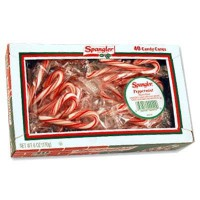 CANDY CANES PEPPERMINT RED WHITE MINI (40)