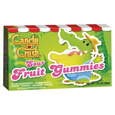 CANDY CRUSH SOUR FRUIT GUMMIES BOX