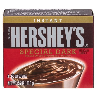 HERSHEY'S INSTANT PUDDING MIX SPECIAL DARK CHOCOLATE
