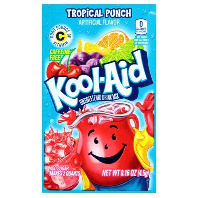 KOOL-AID TROPICAL PUNCH UNSWEETENEND SOFT DRINK MIX