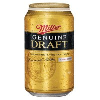 MILLER GENUINE DRAFT MGD BEER - CAN