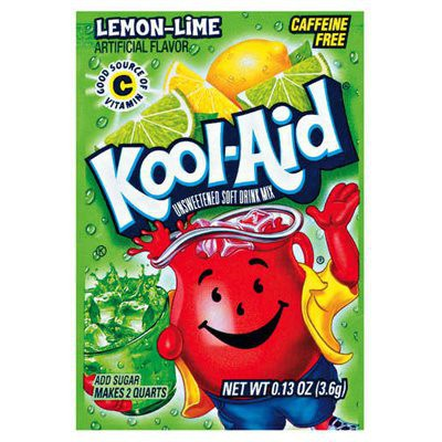 KOOL-AID LEMON-LIME UNSWEETENED SOFT DRINK MIX
