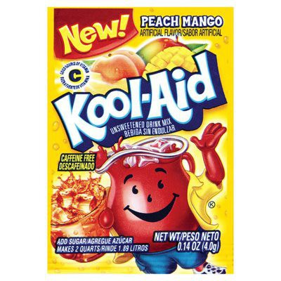 KOOL-AID PEACH MANGO UNSWEETENED SOFT DRINK MIX