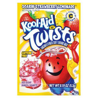 KOOL-AID SOARIN' STRAWBERRY LEMONADE UNSWEETENED SOFT DRINK MIX