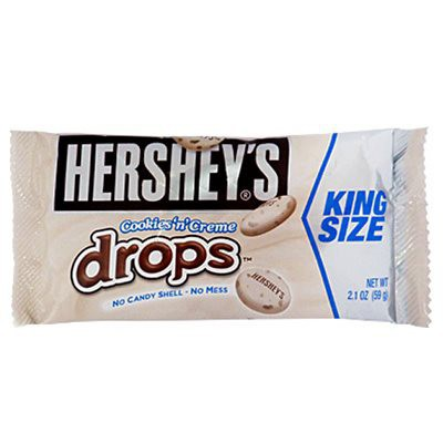 CLEARANCE - HERSHEY'S COOKIES 'N' CREME DROPS KING SIZE