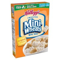 CLEARANCE - KELLOGG'S FROSTED MINI-WHEATS BITE SIZE CEREAL