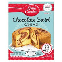 "BETTY CROCKER PREPARADO PASTEL DE CHOCOLATE ""SWIRL"""