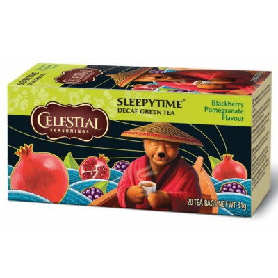 CELESTIAL SEASONINGS SLEEPYTIME GREEN TEA BLACKBERRY POMEGRANATE