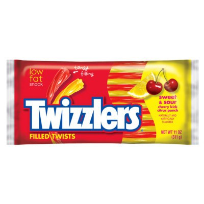 HERSHEY'S TWIZZLERS SWEET AND SOUR FILLED TWISTS LARGE